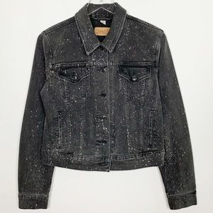 Levis Trucker All Over Paint Splatter Denim Jacket